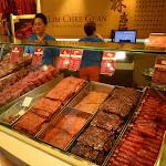 Bak Kwa czyli smażona i suszona wieprzowinka.