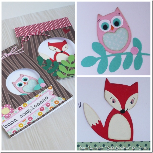 Owl Fox card - Sizzix - Big Shot Plus - Die Cutting - by cafecreativo