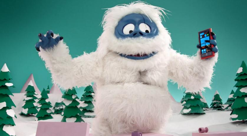 Abominable SnowMan Goes Speed Dating In New Windows Phone Ad