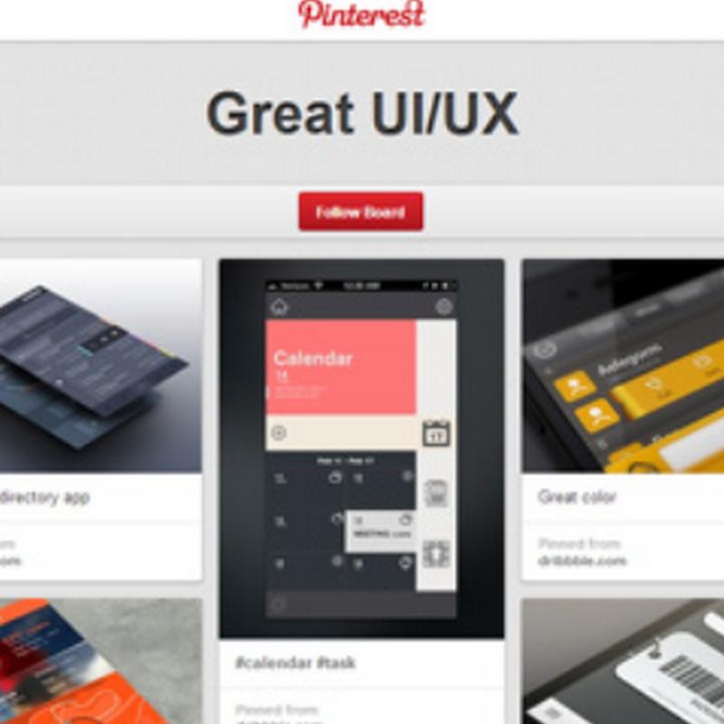 15 pines en Pinterest enfocados en diseños de interfaz y  experiencia de usuarios