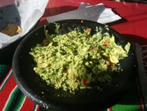 Fresh Guacamole Salad at Olvera Street, Los Angeles