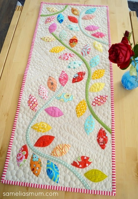 Bursting Buds Table Runner by SameliasMum