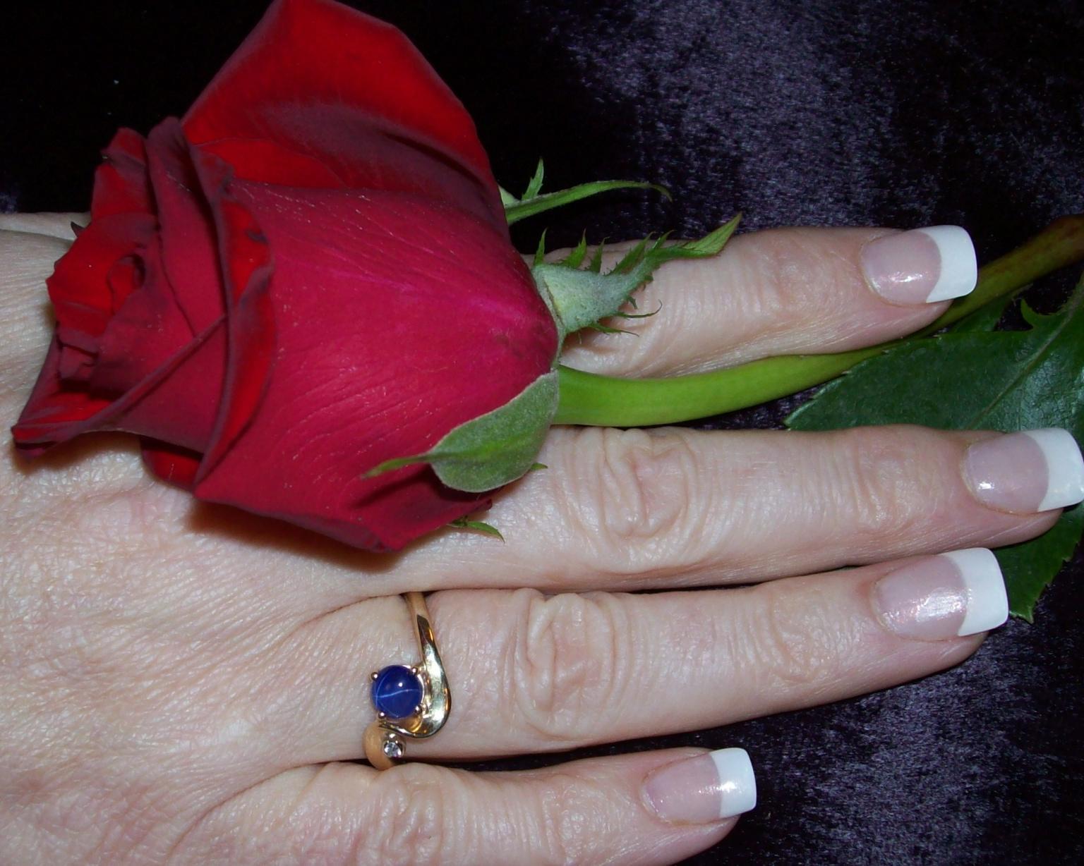 The wedding ring will nest