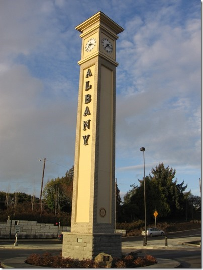 IMG_9510 Clock Tower at Depot in Albany, Oregon on December 4, 2007