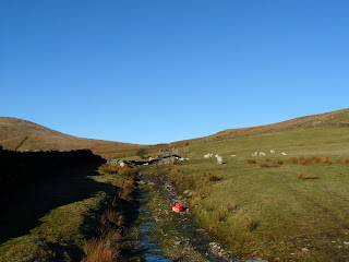 A wet and stony track led on to the fells from Bigert Mire.