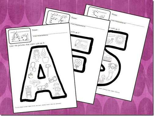 alphabet coloring sheets