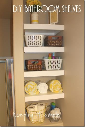 DIY Shelves For A Small Bathroom