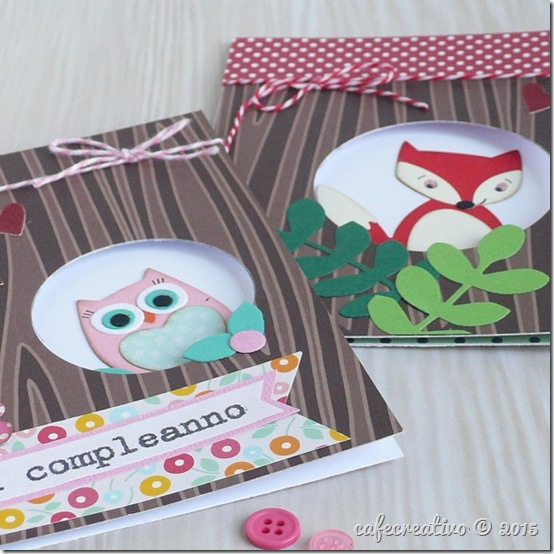 Owl Fox card - Sizzix - Big Shot Plus - fustelle - by cafecreativo