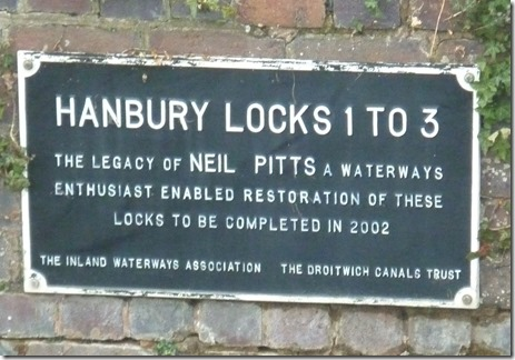 1 plaque at hanbury top lock