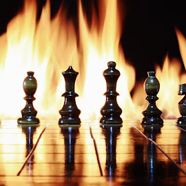 Fire Chess by Peter Salmon - Artistic Objects Toys