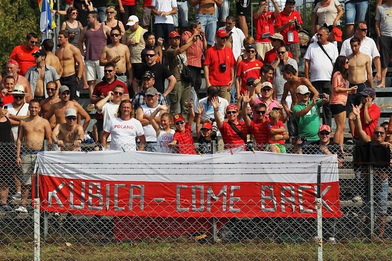 болельщики Роберта Кубицы на Гран-при Италии 2012