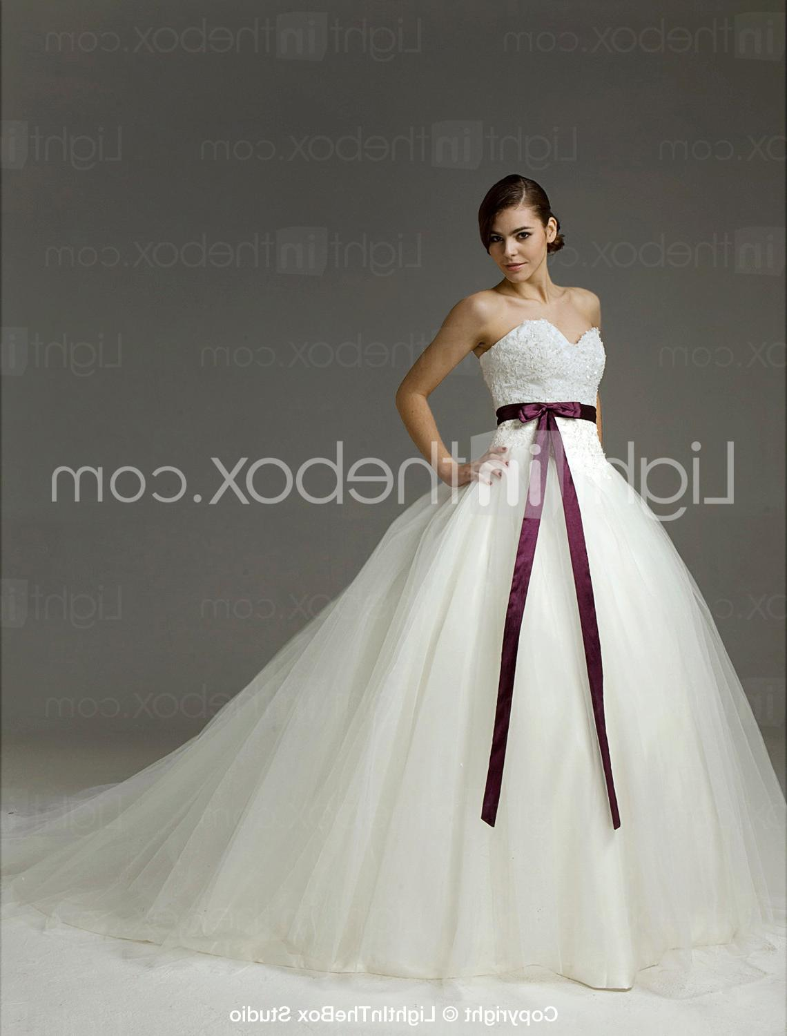 Satin Tulle Ball Gown