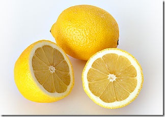 lemon with thick rind