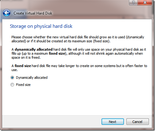 Create VM Machine new Harddisk 2