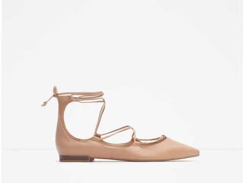 Bailarina de cordones de Zara
