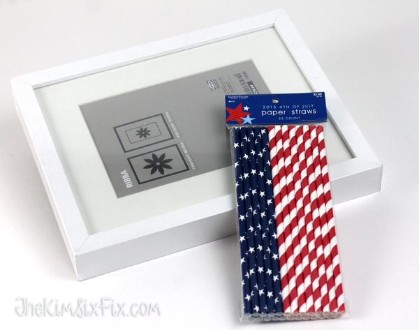 Fourth of july paper straw art