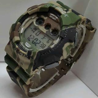 jam tangan C-Shock Digital doreng coklat army WR