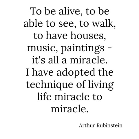 miracle -- arthur rubinstein