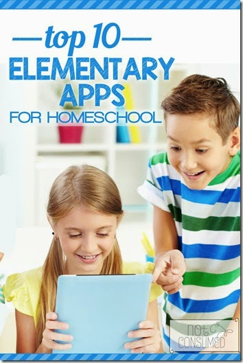 Best Homeschool Apps for Kids - A great list of educational apps for elementary age kids including math, english, spanish, science, geography, and more.