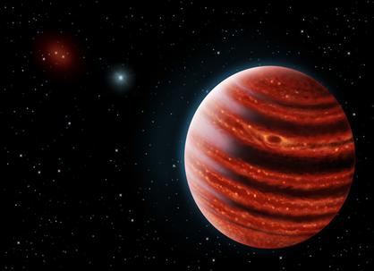 ilustração do exoplaneta 51 Eridani b