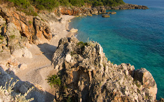 Secluded beach near Dhermi