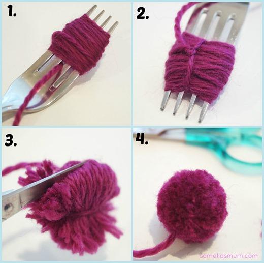 Fork Pom Pom Collage