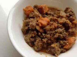 Ground Beef & Sweet Potato Stew with Coconut Milk