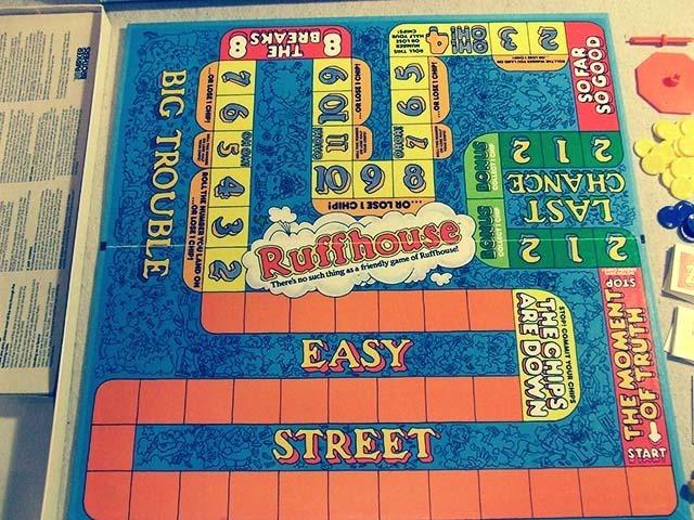 Ruffhouse Board Game Board