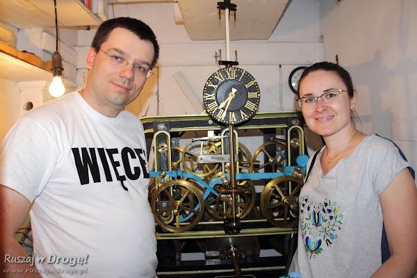 Nowe - działający mechanizm zegara wieżowego kościoła pw św. Mateusza