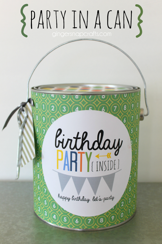 Party in a Can #birthday #party #giftidea