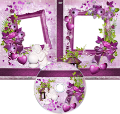 Romantic purple DVD cover