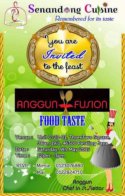 Jemputan Invitation Food Taste untuk Blogger
