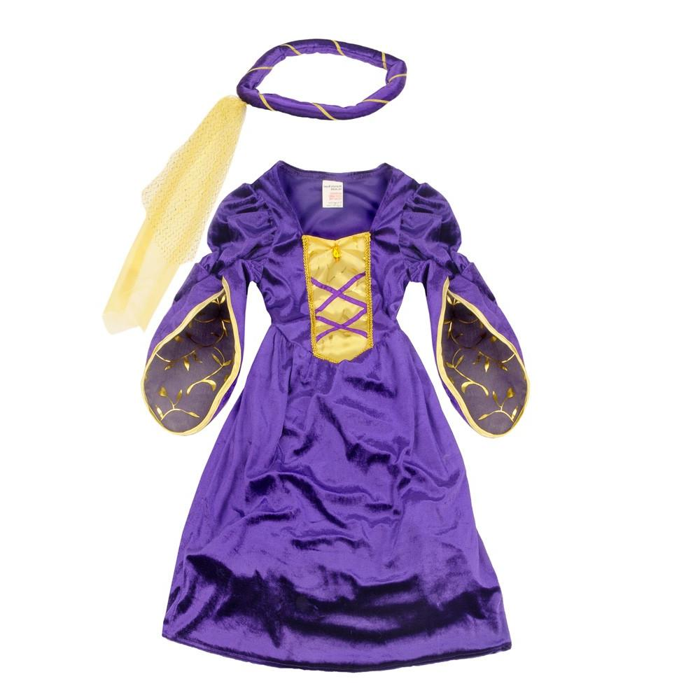 A rich purple medieval dress