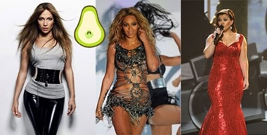 Celebs with Pear Shapes