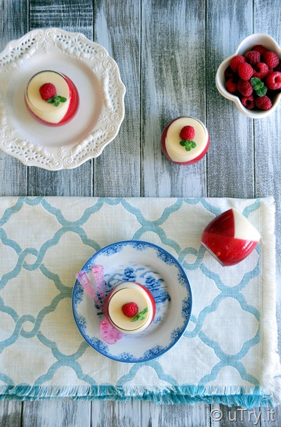 Check out how to make Raspberry Panna Cotta with step-by-step video tutorial!  It's refreshing an very festive for the holiday.  Perfect recipe for entertaining.  http://uTry.it