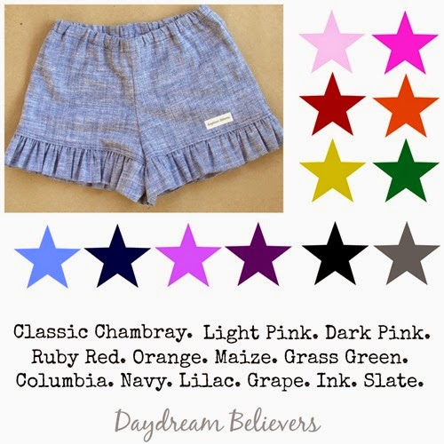 Daydream Believers Classic Shorts Colors