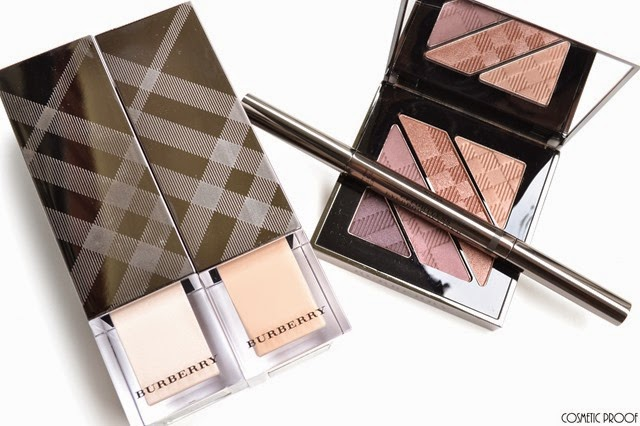 Burberry Makeup Look Complete Eye Palette No.12 Nude Blush Review Swatches