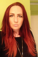 wearing Irresistible Me hair extensions Remy Royal Light Red #130_1