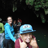 Linda and Maddy at Waitomo Caves.