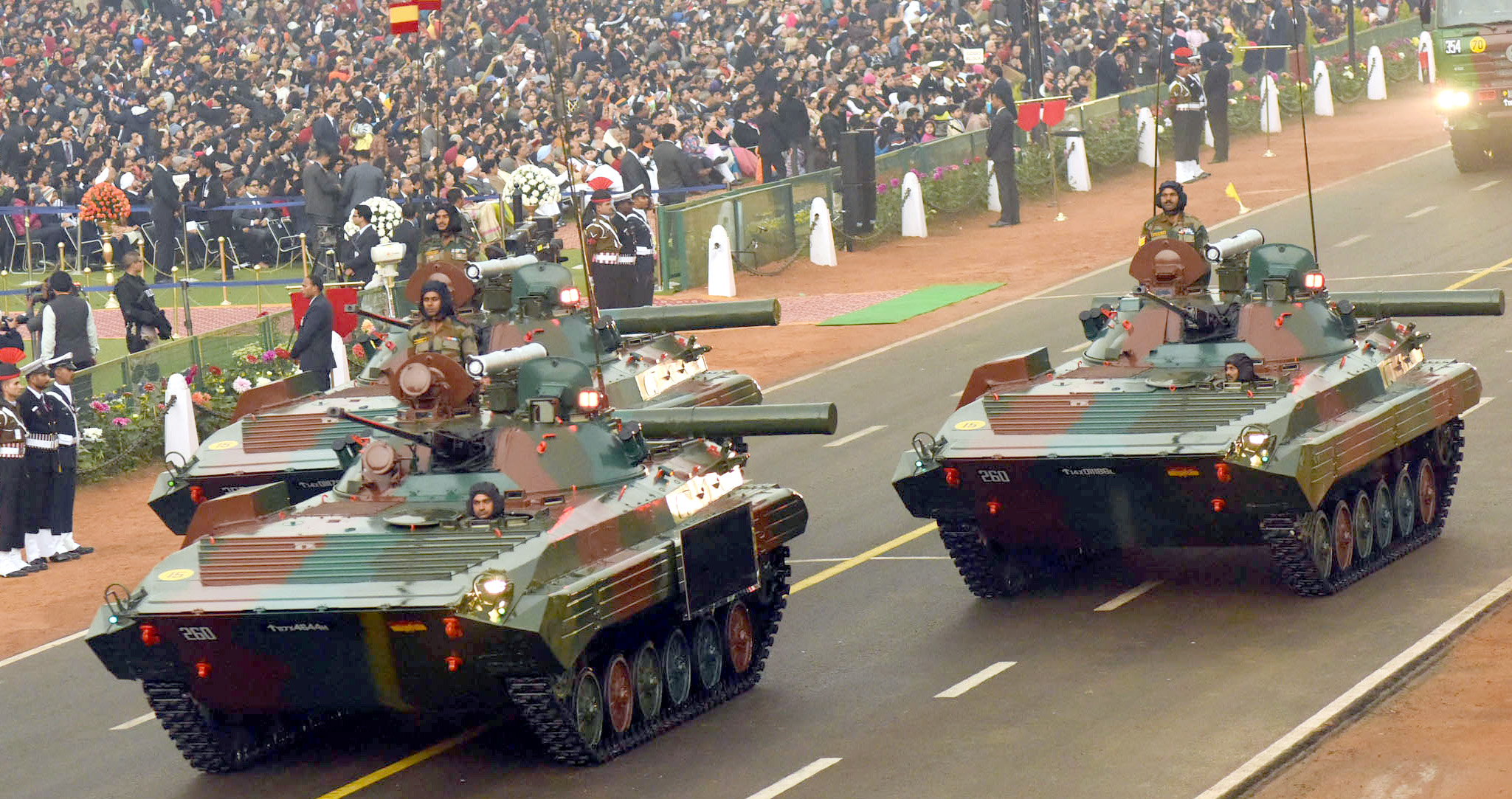 military hardware displayed during s republic day 2017 bmp 2 infantry combat vehicle sarath n army