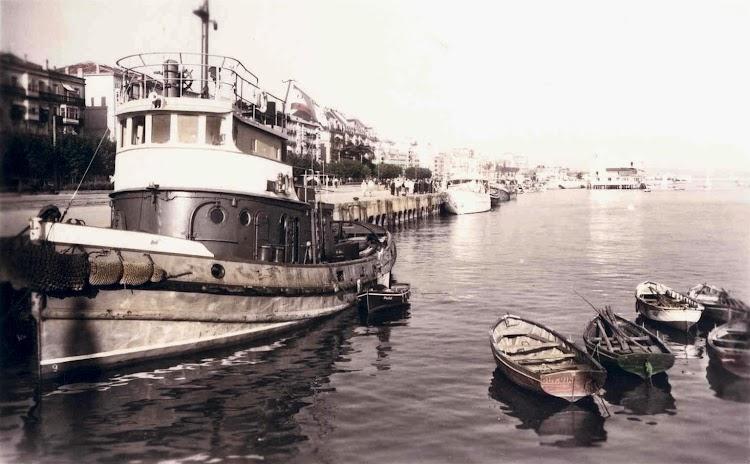 Ya muy viejo en Santander. Foto del libro BARCOS.jpg