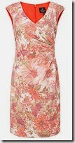 Adrianna Papell pleat detail floral dress