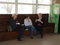 W czasie przerwy: P. Kurska, E. Palichleb, E. Kurska