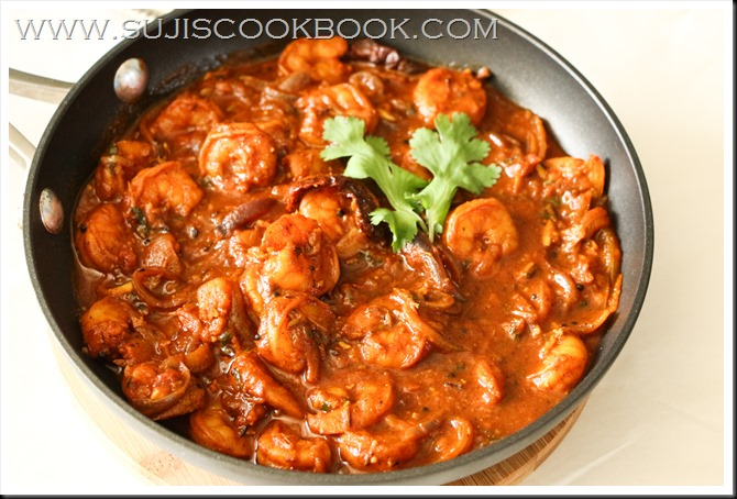 Achari prawns curry