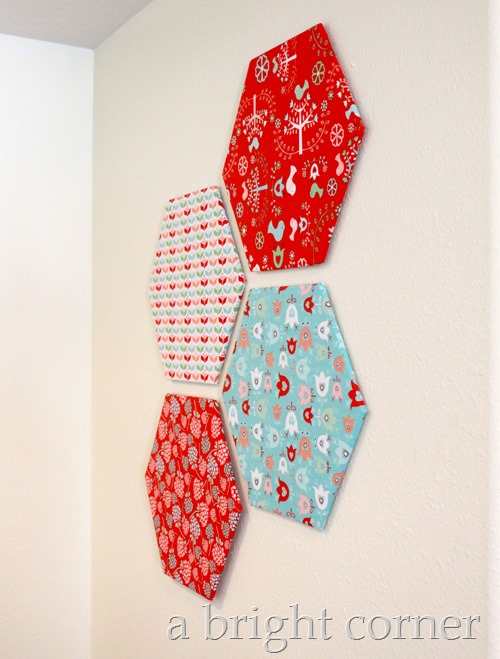 Hexagon wall decor 12