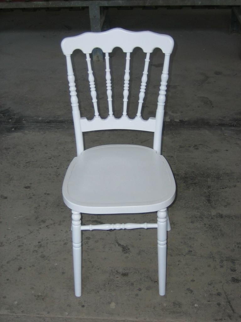 See larger image: White Napoleon Chair For Wedding Furniture