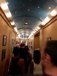 Hallway leads to the lounge slash bar