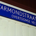 stolen Warmondstraat sign in Reykjavik in Reykjavik, Hofuoborgarsvaeoi, Iceland