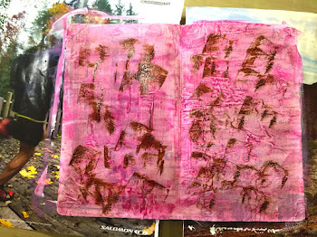 "Linda Vich Creates: And Now For Something Completely Different! Art journal page illustrating the poem, ""Mother To Son"" by Langston Hughes."