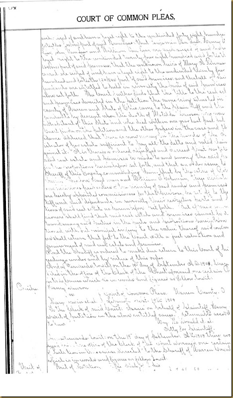 Henry Dawson file partition Mary Irwin 9
